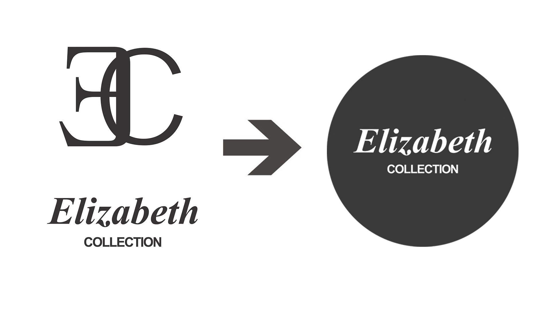 logo elizabeth ewolucja